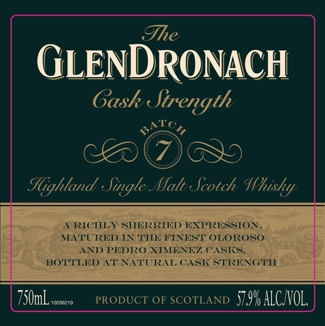 GlenDronach Cask Strength Batch 7 label