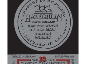 Hazelburn 13 yo Oloroso Cask Matured label