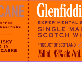 Glenfiddich Fire & Cane lower label