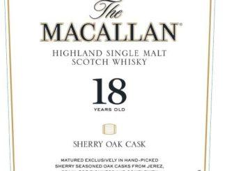Macallan 18 yo Sherry Oak 2019